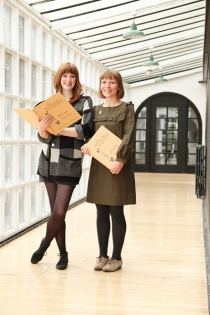 catriona-duffy-and-lucy-mceachan(of-panel)-at-the-inventors-of-tradition-book-launch-in-the-mackintoshmuseum,-glasgow-school-of-art--1316203581